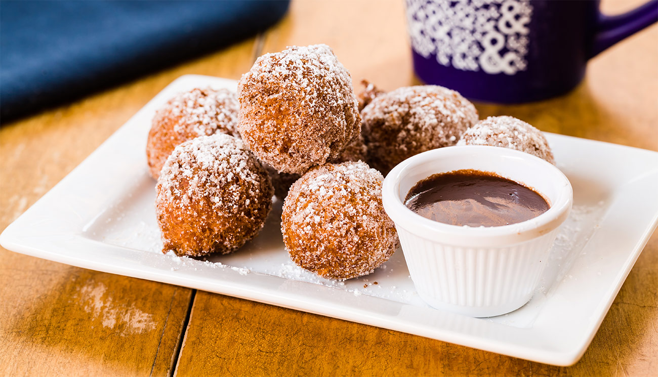 Doughnuts - cinnamon sugar & chocolate.